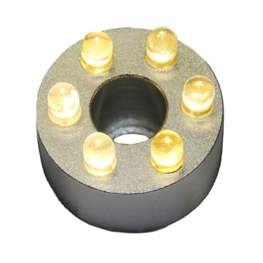 LED ring 6 dioder varmhvit uten transformator