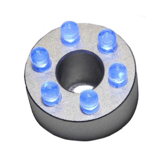 LED ring 6 dioder blå uten transformator