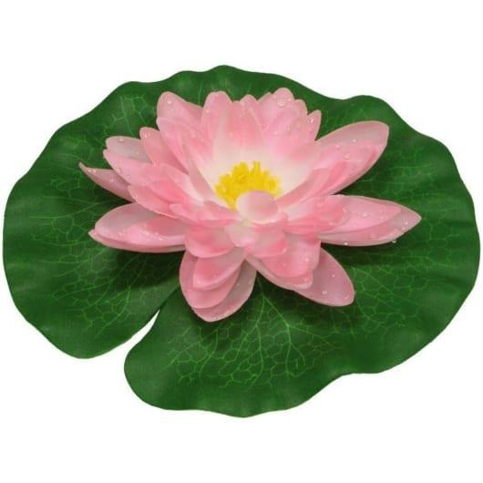 Vannlilje av silke - 15 cm rosa