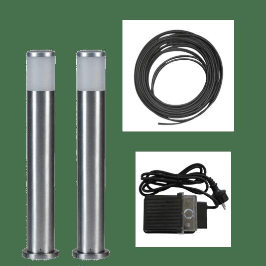 Alu LED-stolpe 45cm - Tilpasset sett