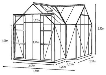 SIRIUS 13000 Drivhus (13m²)