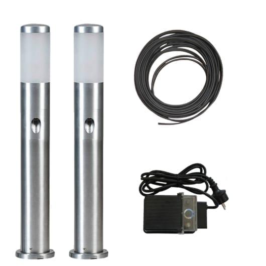 Alu LED-stolpe m/sidelys 60cm - Tilpasset sett