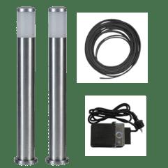 Alu LED-stolpe 65cm - Tilpasset sett