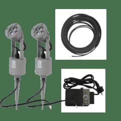 LED-Spotlight med jordspyd - Tilpasset sett