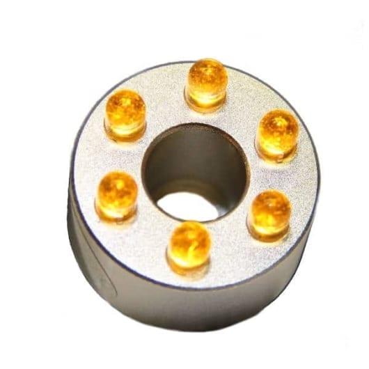 LED ring 6 dioder gul uten transformator